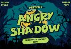 Angry Shadow - Halloween Display Font