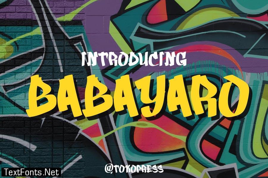 BABAYARO - graffiti font