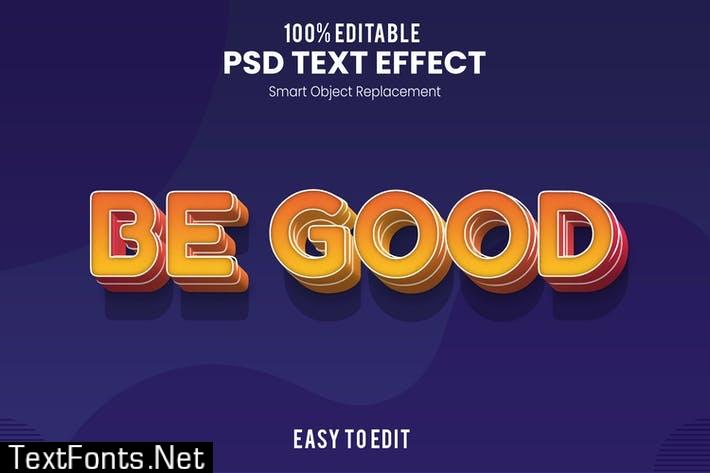 Be Good - Fun 3d Text Effect