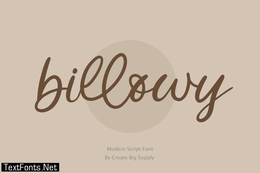 Billowy - Handwritting Script Font