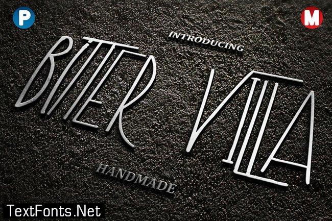 Bitter Villa Font