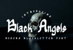 Black Angels Font