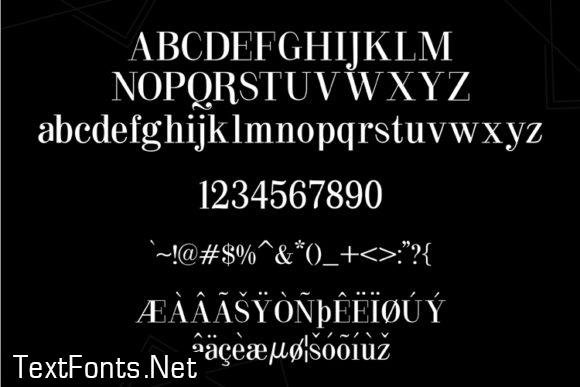 Black Heart Font