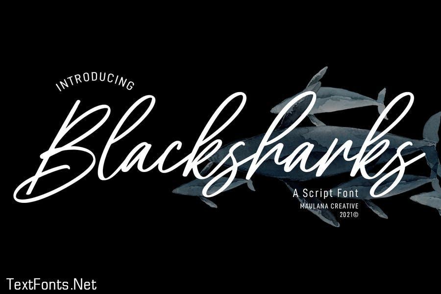 Blacksharks Script Font