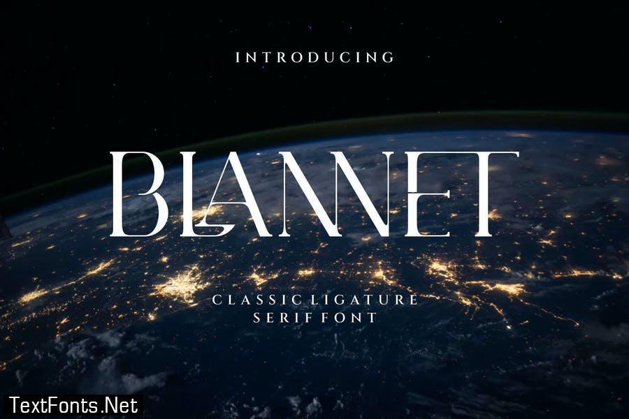 BLANNET Ligature Serif Typeface