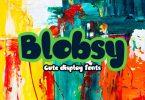 Blobsy Font