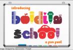 Boldita School Font