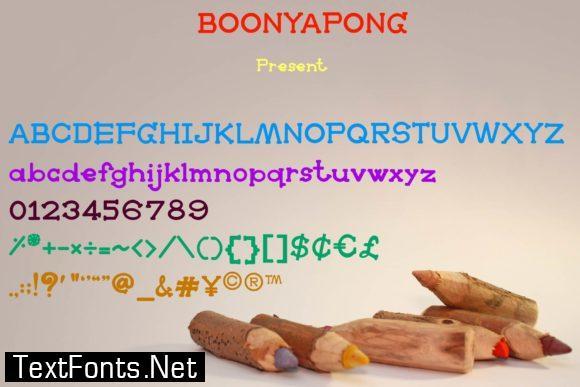 Boonyapong Font