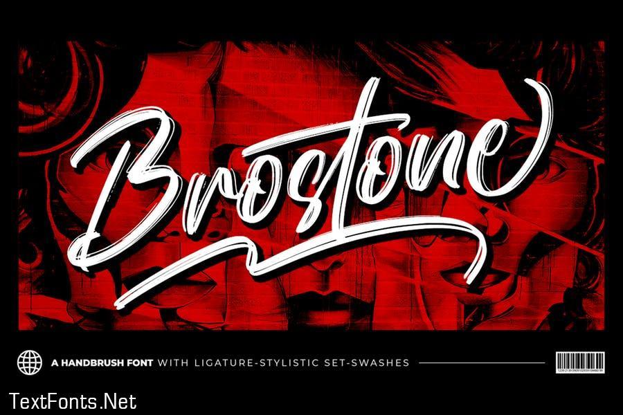 Brostone - Brush Font