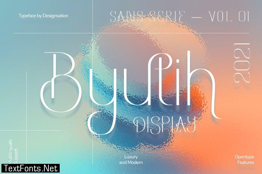 Byutih Sans Typeface