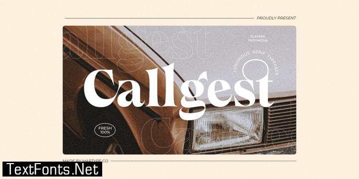 Callgest Font Family