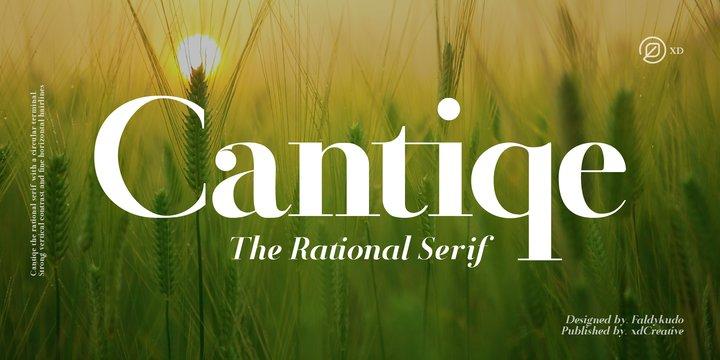 Cantiqe Font Family