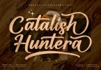 Catalish Huntera Modern Script LS