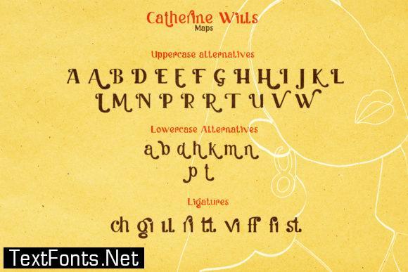 Catherine Wills Font