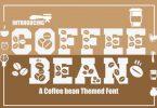 Coffee Bean Font