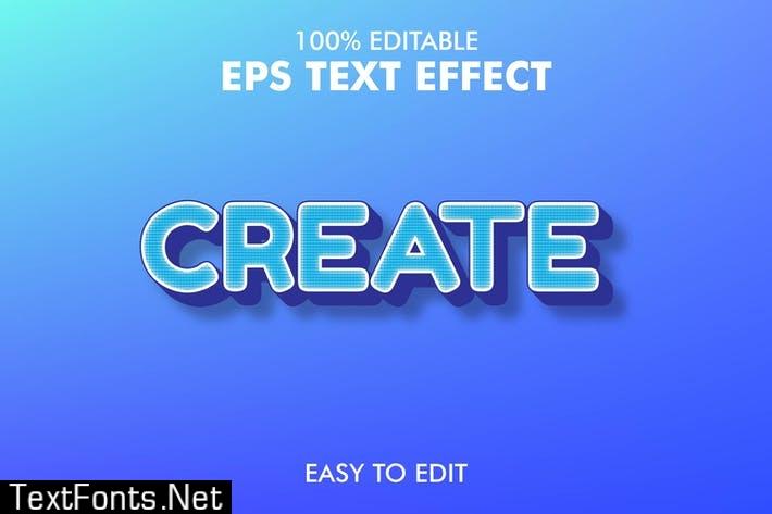 Create - Editable 3D Text Effect EPS