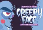 Creepy Face Font
