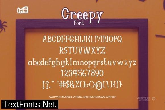 Creepy Font