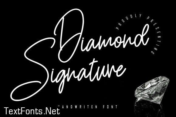 Diamond Signature Font