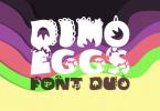 Dino Eggs Duo Font
