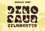 Dinosaur Silhouette Font