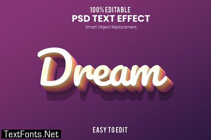 Dream-3D Text Effect
