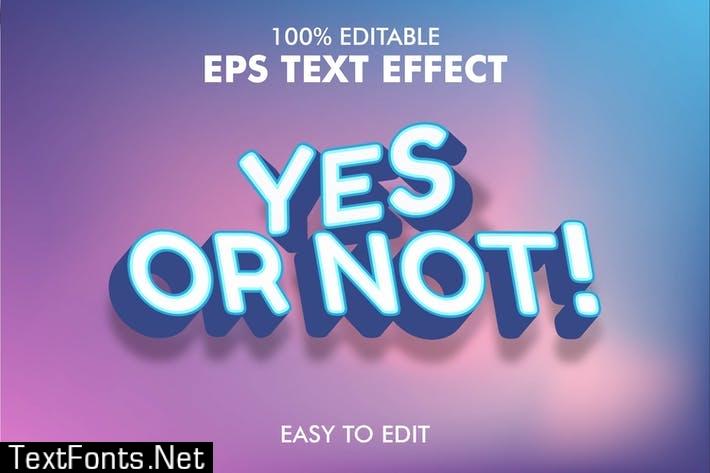 Editable 3D Text Effect EPS