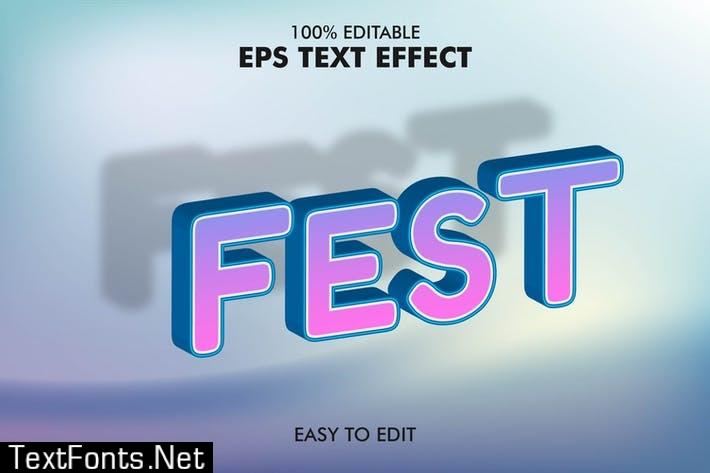 Fest - Editable 3D Text Effect EPS