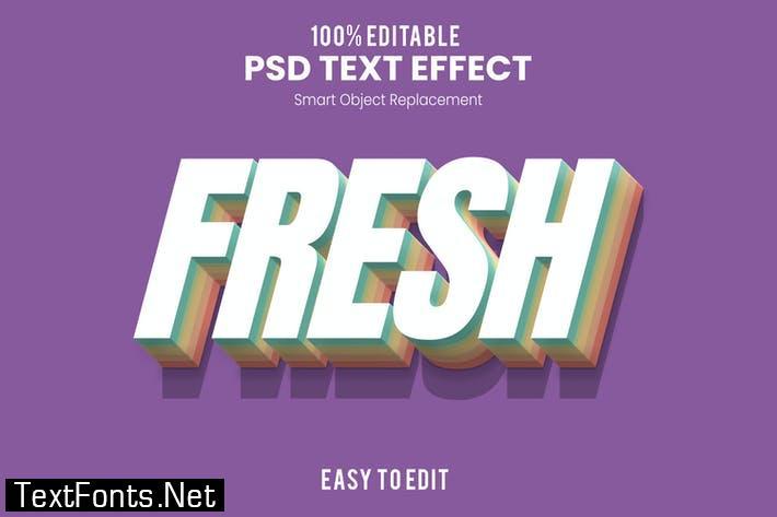 Fresh-3D Text Effect