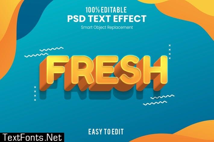Fresh - Fun 3d Text Effect