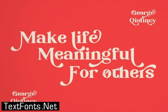 George Qiofincy Font