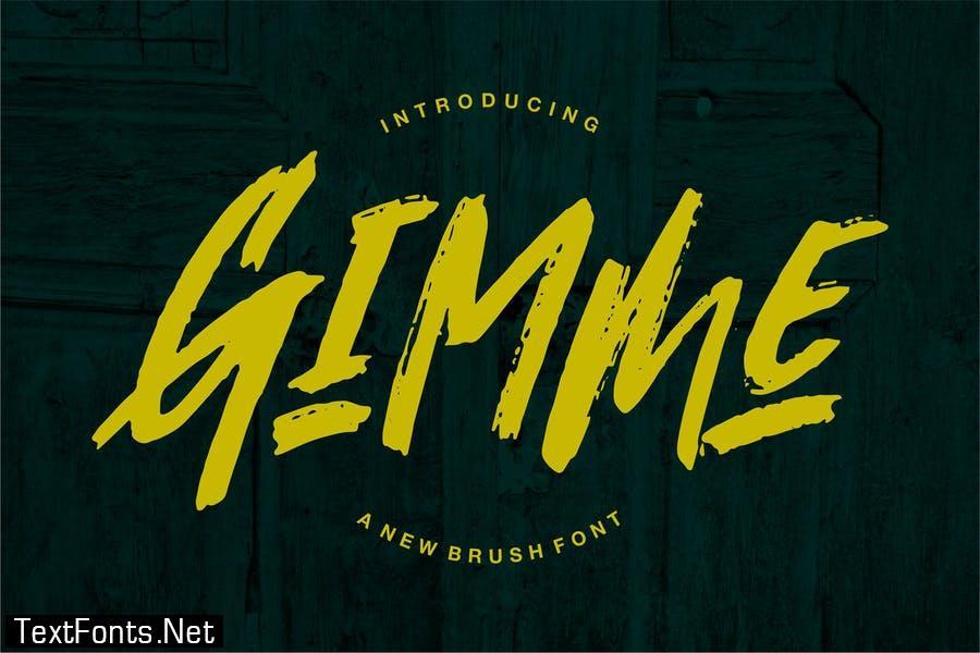 Gimmi   A New Brush Font