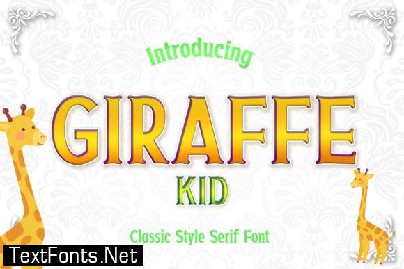 Giraffe Kid Font