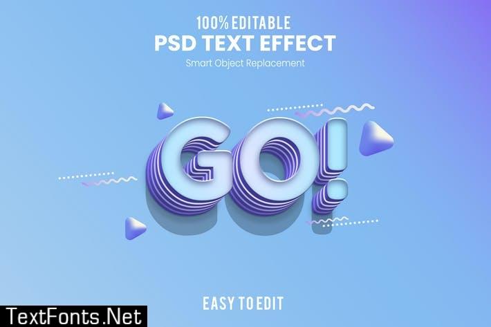 Go - Fun 3d Text Effect