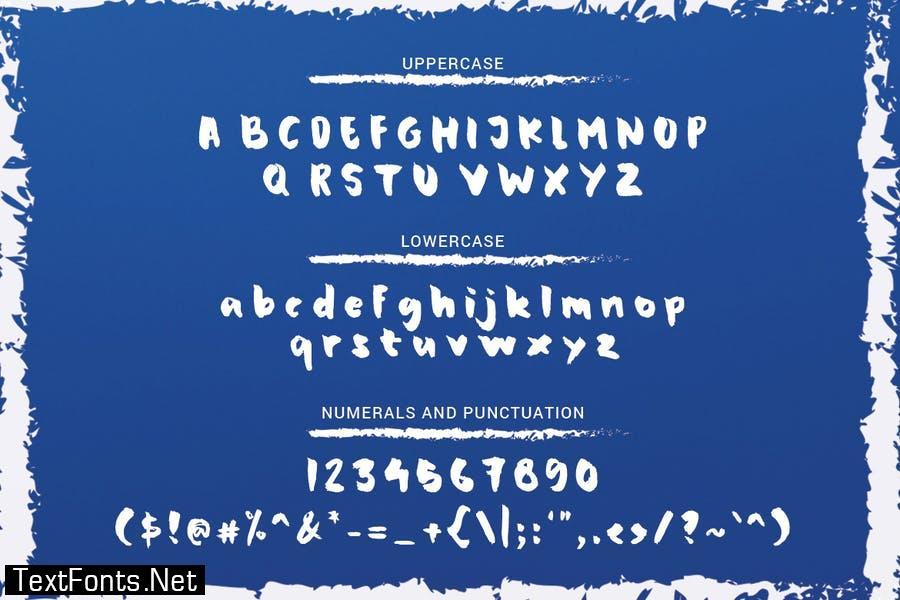 Grandpa Shark - Handwritten Brush Font