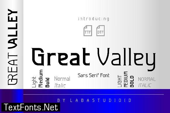 Great Valley Font