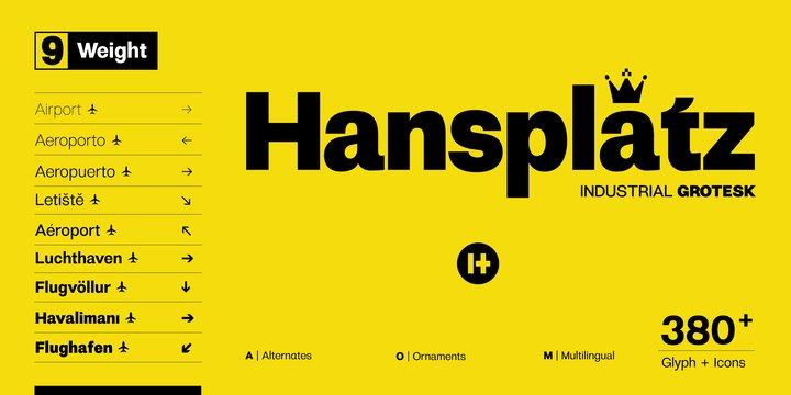 Hansplatz Grotesk Font Family