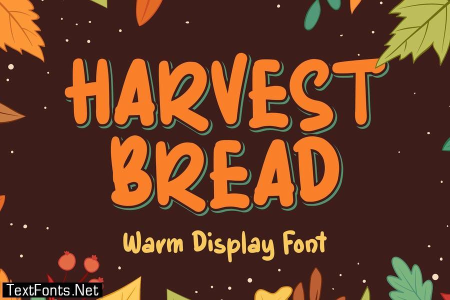 Harvest Bread - Autumn Display Font