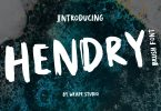 Hendry - Brush Font