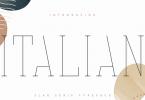 Italian VP Font Family