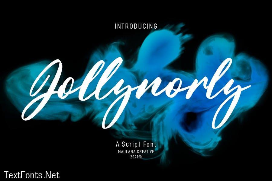 Jollynorly Display Script Font
