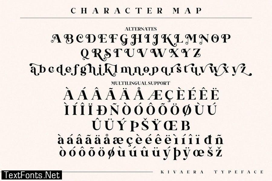 Kivaera Stylish Serif Font LS