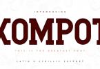 Kompot Slab Font Family