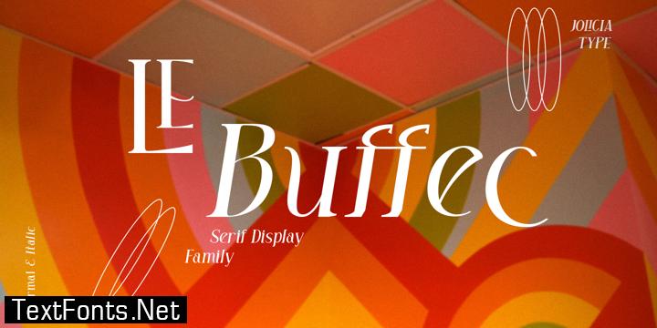 LE Buffec Font Family