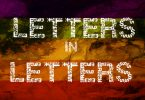 Letters in Letters Font