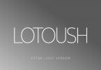 Lotoush Extra Light Font