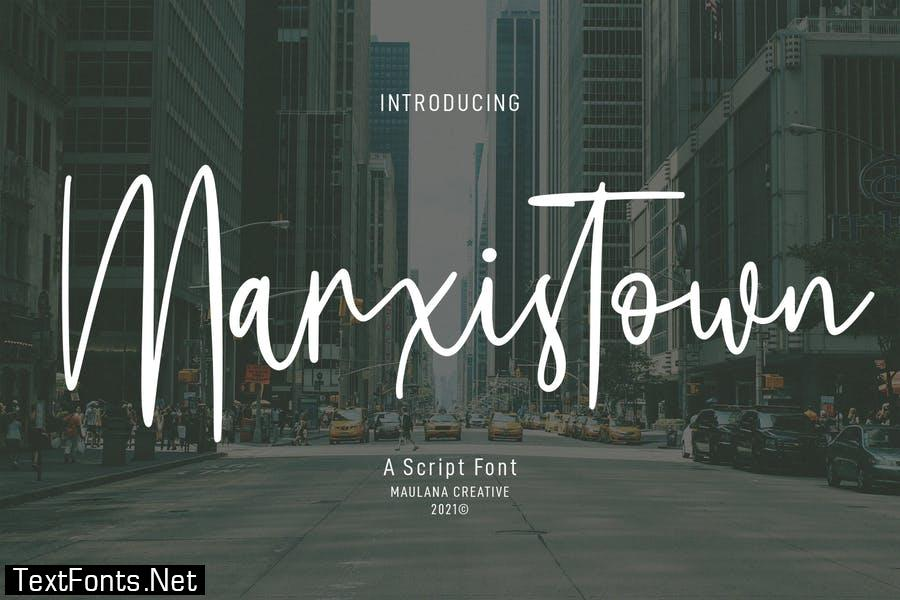 Marxistown Script Font