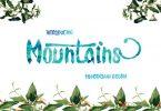 Mountains Font