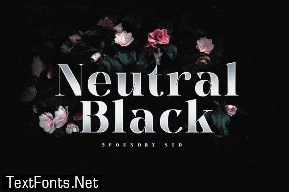 Neutral Black Font