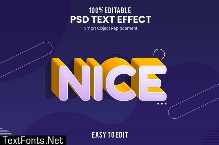 Nice - Fun 3d Text Effect